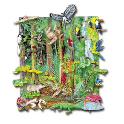 Animale din jungla x 23 piese